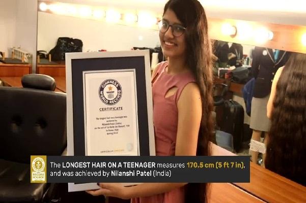 Thiếu nữ Ấn Độ lập kỷ lục có mái tóc dài nhất thế giới