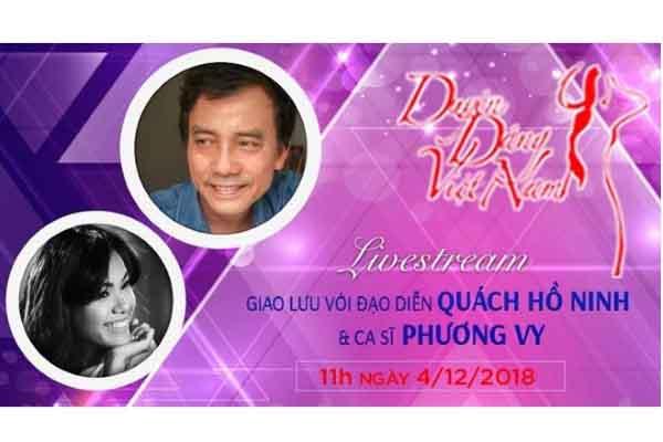 Livestream giao lưu với đạo diễn Quách Hồ Ninh và ca sĩ Phương Vy