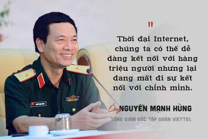 Những phát ngôn ấn tượng của Chủ tịch Viettel Nguyễn Mạnh Hùng