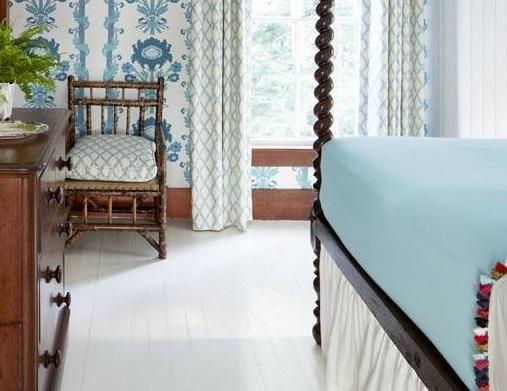 Phòng ngủ màu xanh tạo cảm giác dịu nhẹ mơ màng