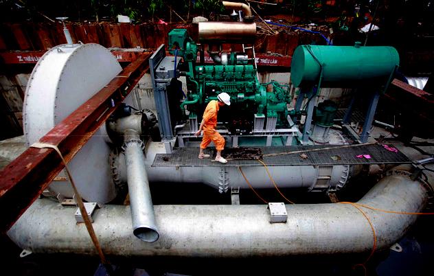 TP.HCM tiếp tục thuê máy bơm giải quyết chống ngập trên địa bàn thành phố sau năm 2019