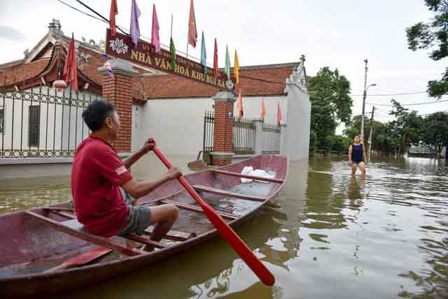 Nguy cơ ngập lụt tiếp tục đe dọa huyện Chương Mỹ