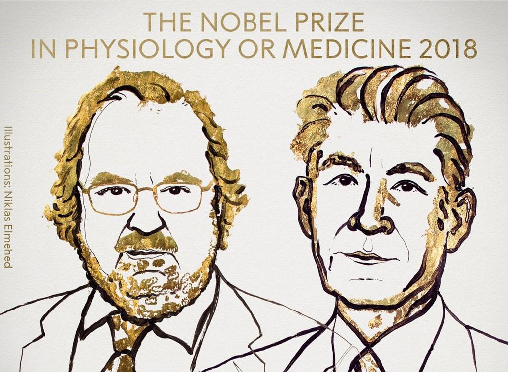 Nghiên cứu về điều trị ung thư đạt giải Nobel Y học 2018
