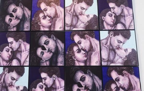 Họa sĩ Dương Thu Phương ra mắt 20 bức họa về nụ hôn