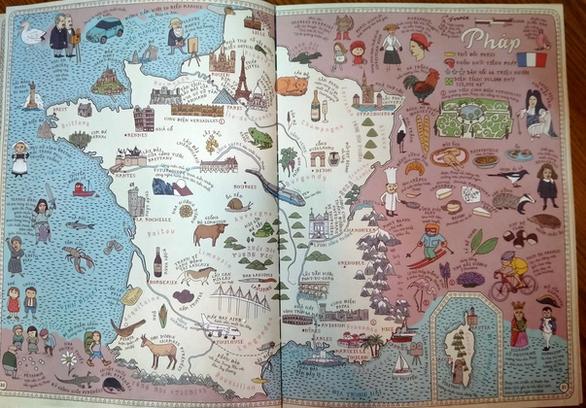 Trường Sa, Hoàng Sa xuất hiện trang trọng trong Bản đồ của Aleksandra Mizielińska và Daniel Mizieliński