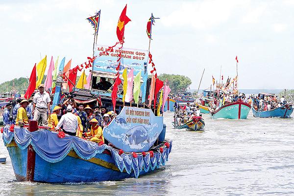 """Đờn ca tài tử và lễ hội Nghinh Ông - Cần Giờ tham dự """"Không gian di sản văn hóa Việt Nam 2018"""""""