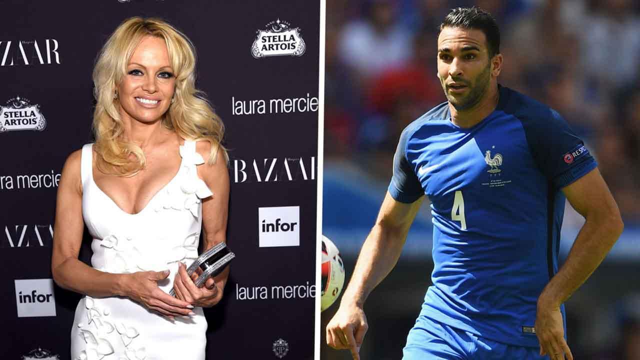 Pamela Anderson cổ vũ cho người tình mới trung vệ người Pháp Adil Rami