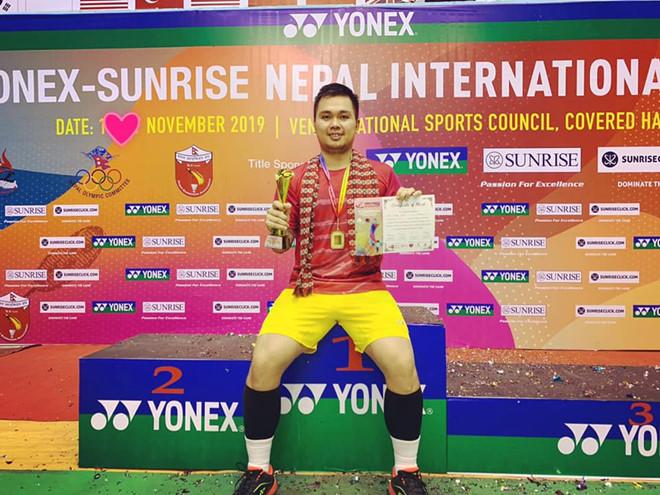 Phạm Cao Cường vô địch giải cầu lông quốc tế Nepal