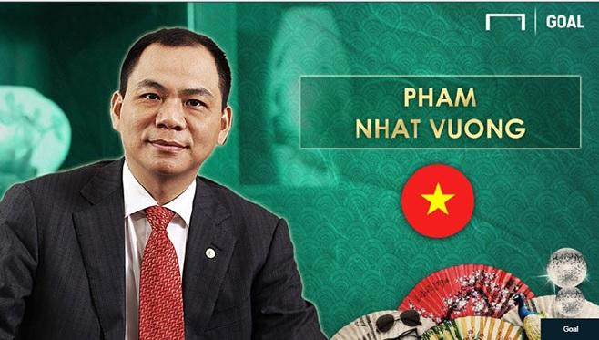 Tỷ phú Phạm Nhật Vượng lọt top ông bầu bóng đá giàu nhất Châu Á
