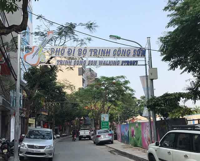 Khai mạc Phố đi bộ Trịnh Công Sơn ở Hà Nội