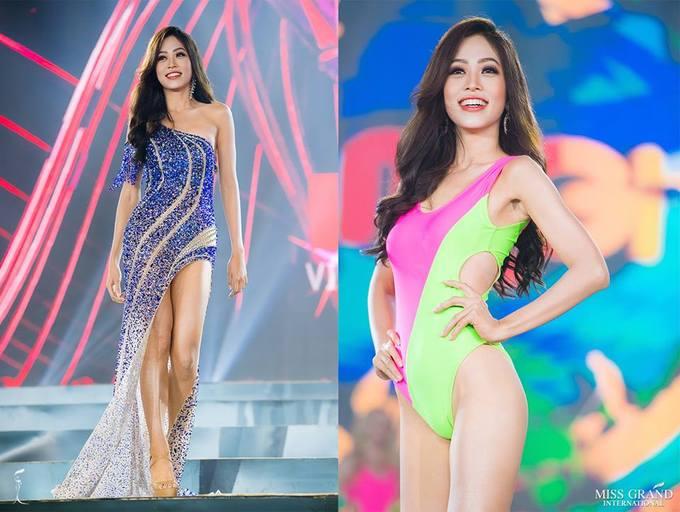 Phương Nga nổi bật tại sân khấu đêm bán kết Miss Grand International 2018