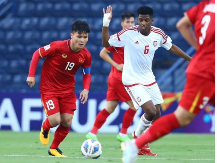 U23 Việt Nam vươn lên xếp trên UAE