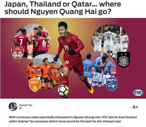 Quang Hải  có thể chơi tốt ở Nhật Bản, Qatar hay Thái Lan ?
