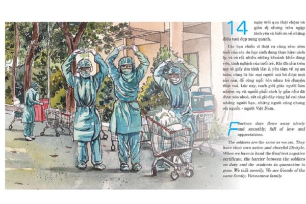 Ra mắt sách ký họa về COVID-19 với những bản vẽ thú vị