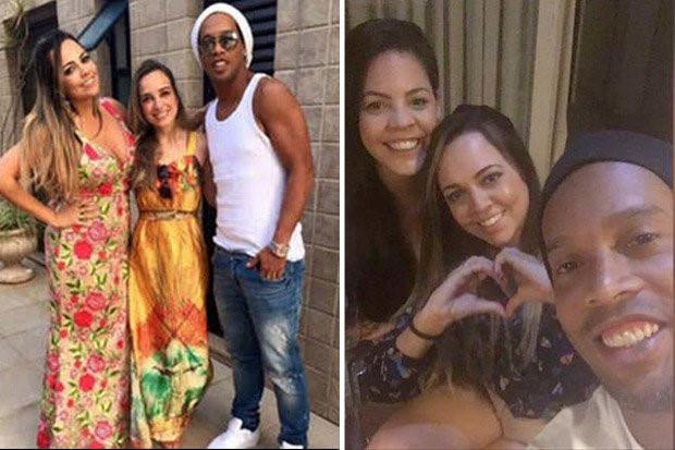 Huyền thoại Ronaldinho cưới một lúc... 2 cô bạn gái