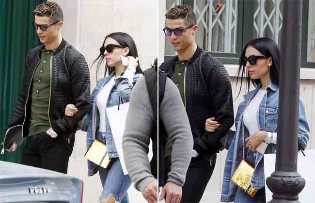 C. Ronaldo khoác tay bạn gái đi mua sắm