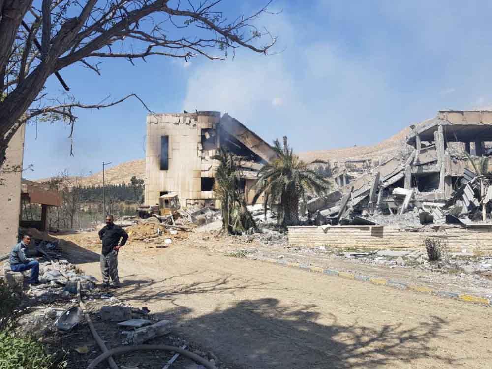 Trung tâm nghiên cứu thuốc trị ung thư của Syria tan hoang