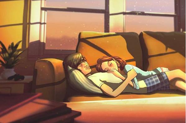 20 sắc thái tình yêu qua nét vẽ dễ thương của họa sĩ Anh