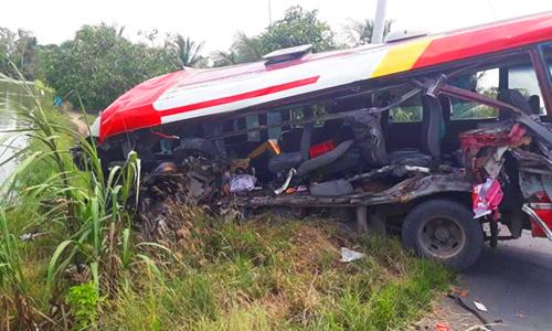 Tuyến tránh Cai Lậy: Tai nạn ô tô khiến 3 người tử vong