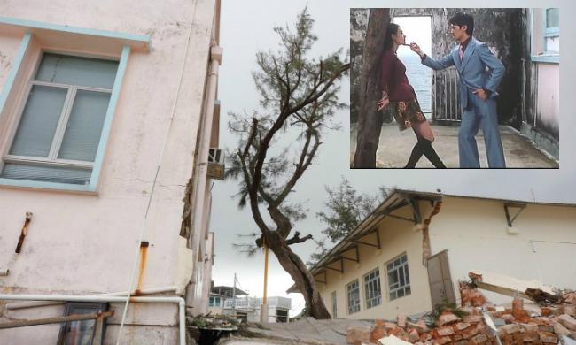 Siêu bão Mangkhut khiến nhiều phim trường ở Hong Kong tan hoang
