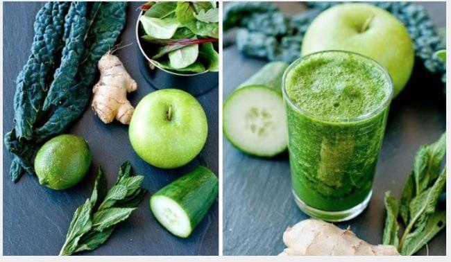 Các loại rau xanh xay nhuyễn làm nước uống giảm cân