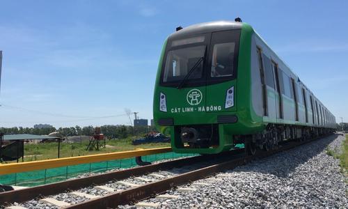 Tàu Cát Linh - Hà Đông sẽ chạy thử toàn tuyến vào ngày 20/9