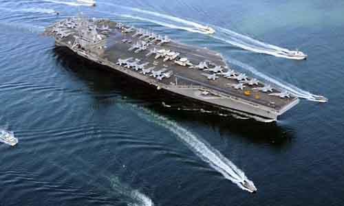 Siêu tàu sân bay USS Ronald Reagan của hải quân Mỹ tuần tra biển đông