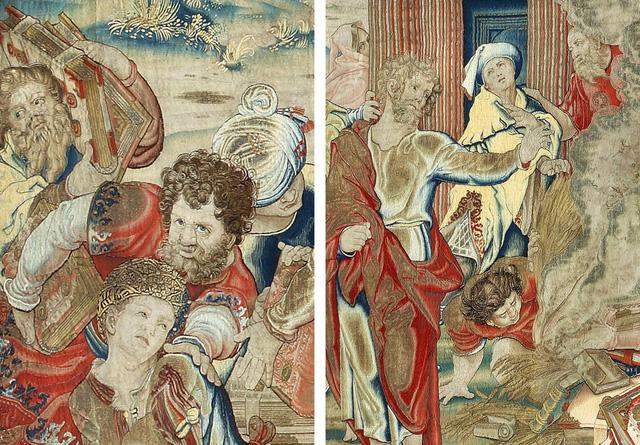 Một tấm thảm thêu bằng vàng bạc được tìm thấy sau 250 năm
