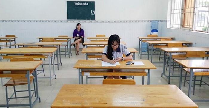 Trường thi ở Sài Gòn chỉ có một thí sinh