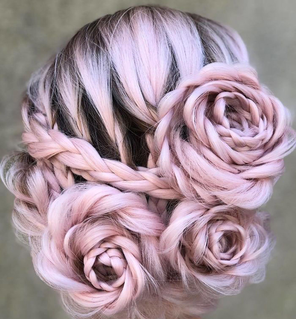 """Phái đẹp sẽ bị """"đốn tim"""" khi ngắm những mái tóc tết hình hoa hồng"""