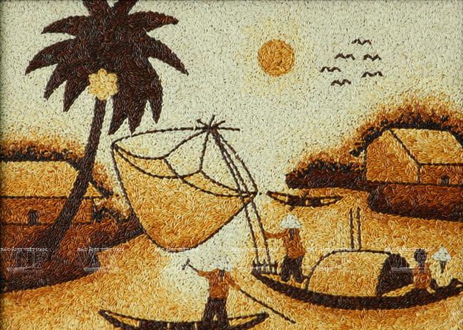 Tranh gạo nơi ẩn chứa tinh thần Việt