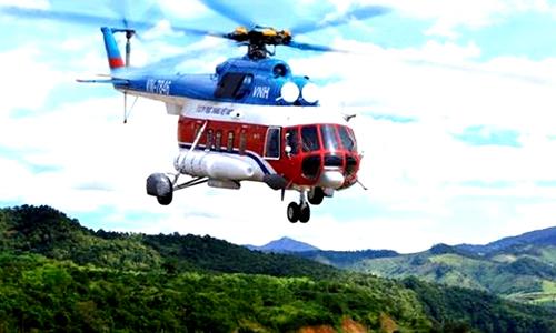 Cà Mau: Dùng trực thăng để khảo sát sạt lở bờ biển