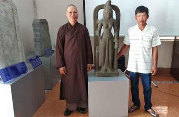 Tượng nữ thần quí lần đầu tiên được phát hiện ở Việt Nam