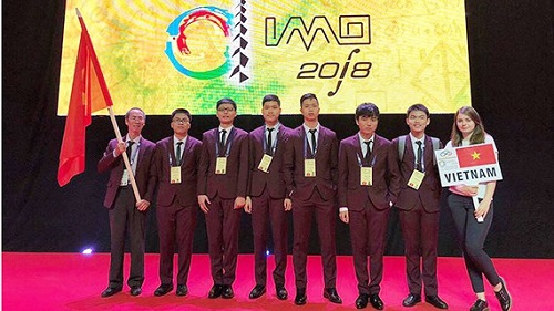 6 thí sinh Việt Nam đạt huy chương Olympic Toán Quốc tế năm 2018