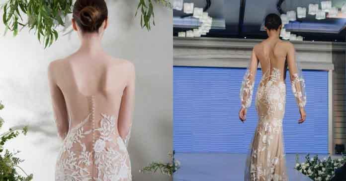 Váy cưới trong suốt ngày càng được ưa chuộng
