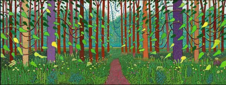 Trong tranh vẽ của David Hockney, bạn thấy gì?