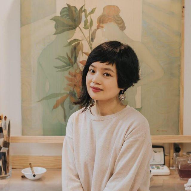 Nữ họa sĩ Nguyễn Thu Hương ra mắt triển lãm 'Hương Lụa'