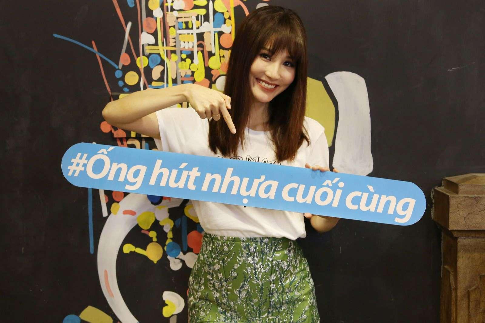"""Diễm My 9x kêu gọi hành động """"vì một Việt Nam không rác nhựa"""""""