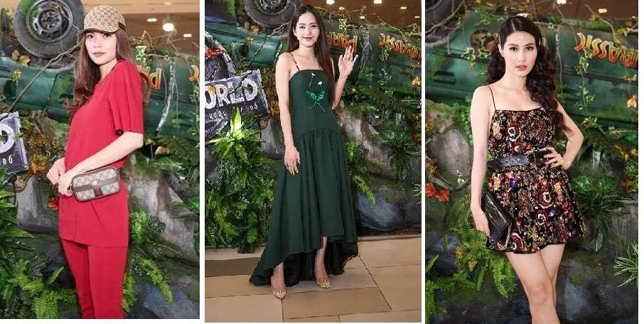 Hà Hồ, Nam Em, Diễm My 9x nổi bật tại buổi công chiếu Jurassic World