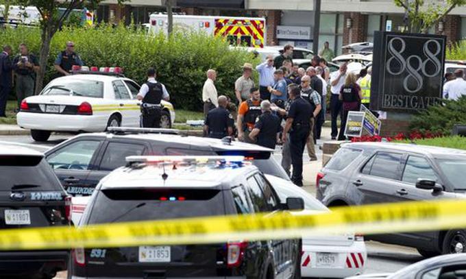 Xả súng ở tòa soạn Mỹ, đã có 5 người thiệt mạng