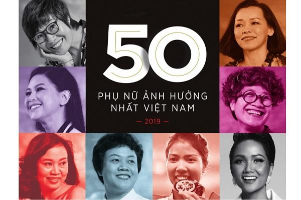 50 phụ nữ ảnh hưởng nhất Việt Nam năm 2019