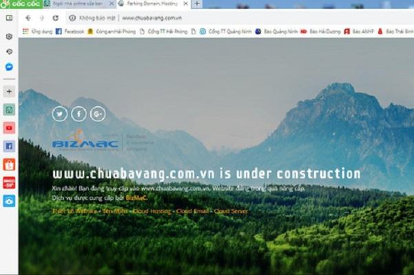 Website của chùa Ba Vàng tạm dừng hoạt động