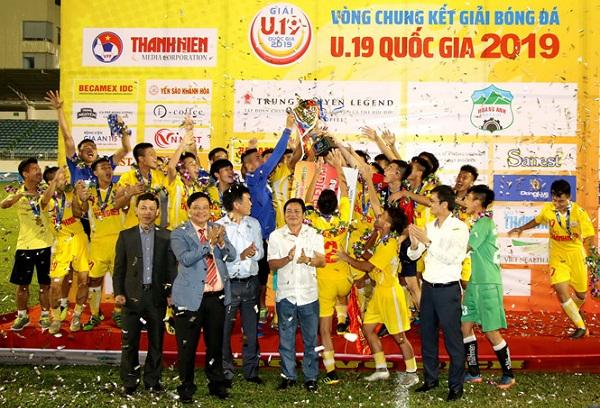 Khép lại thành công VCK giải bóng đá U.19 quốc gia 2019