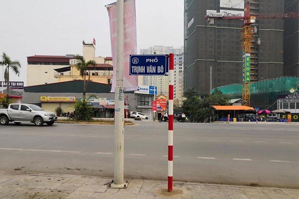 Chính thức gắn biển phố mang tên nhà tư sản Trịnh Văn Bô