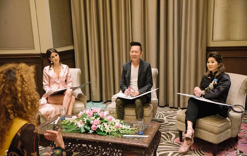 Phương Nga mặc váy xuyên thấu trước giám khảo Miss Grand International