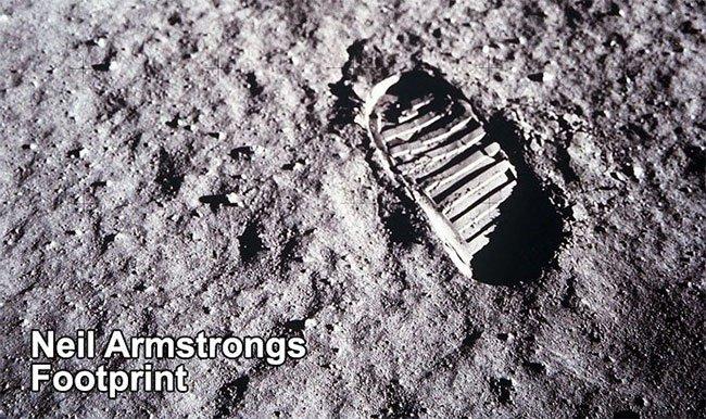Hé lộ sự thật về dấu chân đầu tiên của Neil Armstrong trên Mặt trăng
