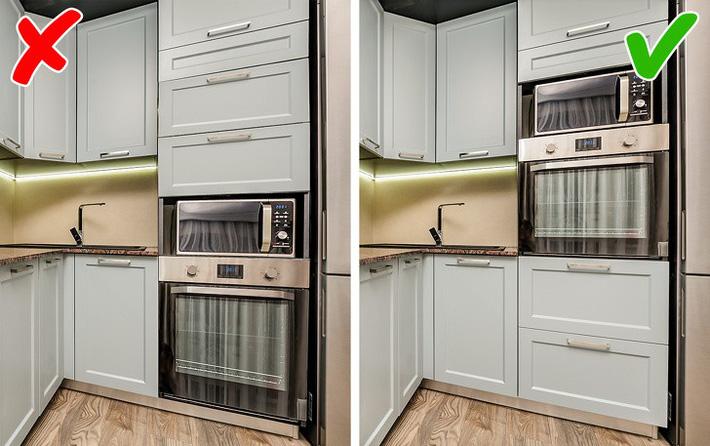 Một số sai lầm trong thiết kế không an toàn cho nhà bếp
