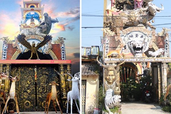 Ngôi nhà có kiến trúc kỳ lạ ở Hưng Yên
