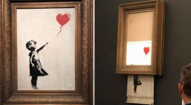 Bức tranh đấu giá 1,4 triệu USD bất ngờ tự huỷ gây kinh ngạc