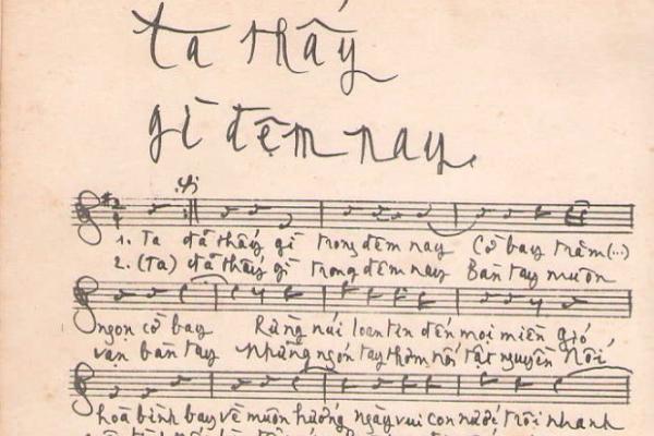 Tìm được bản chép tay 'Ta thấy gì đêm nay' của Trịnh Công Sơn